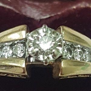 Jewelry - Art deco 14k gold. 50ct engagement filigree ring